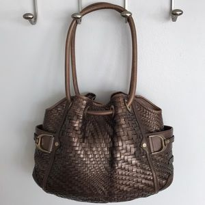 """Cole Haan """"Genevieve"""" Woven Leather Hobo Bag"""